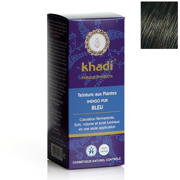 Teinture Aux Plantes Indigo Pur Bleu  G Khadi  Acheter Sur