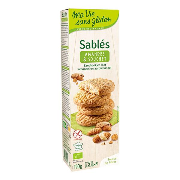 Ma Vie Sans Gluten - Sablés Bio Amande et Souchet 150g