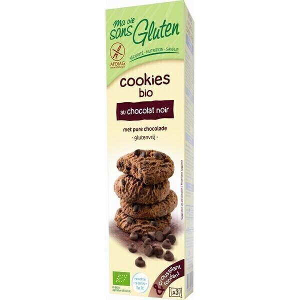 Ma Vie Sans Gluten - Cookies au Chocolat Noir BIO 150g