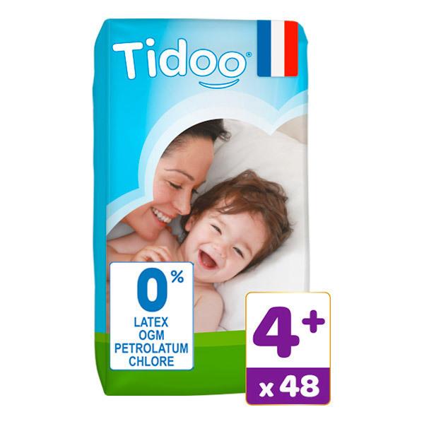 Tidoo - Pack 3x48 Couches T4+ 9-20kg Hypoallergéniques Nature