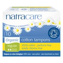 Natracare - Tampon, flux normal, sans applicateur, 10 unités