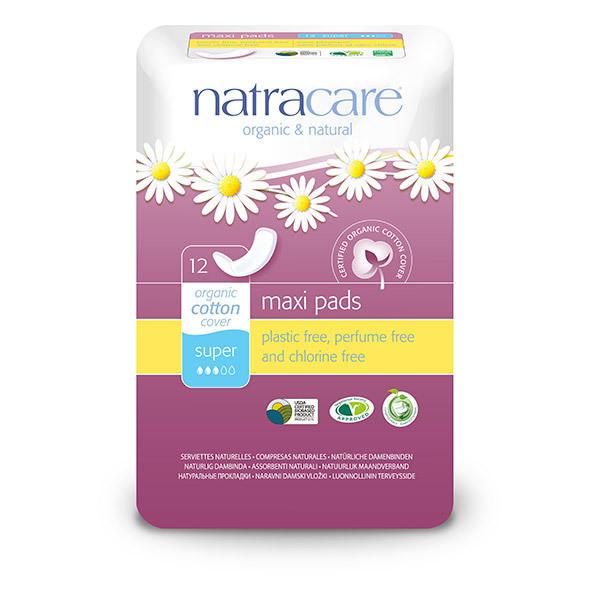 Natracare - Damenbinden für die Nacht 10 Stück