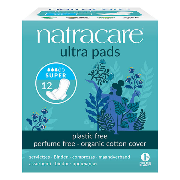 Natracare - Serviettes ultra super avec ailettes x12