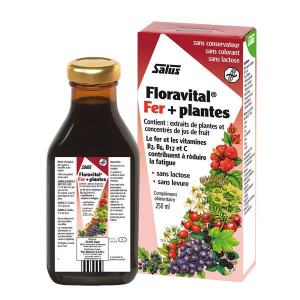 Tonique floravital fer plantes 250ml salus floradix - Produit riche en fer ...