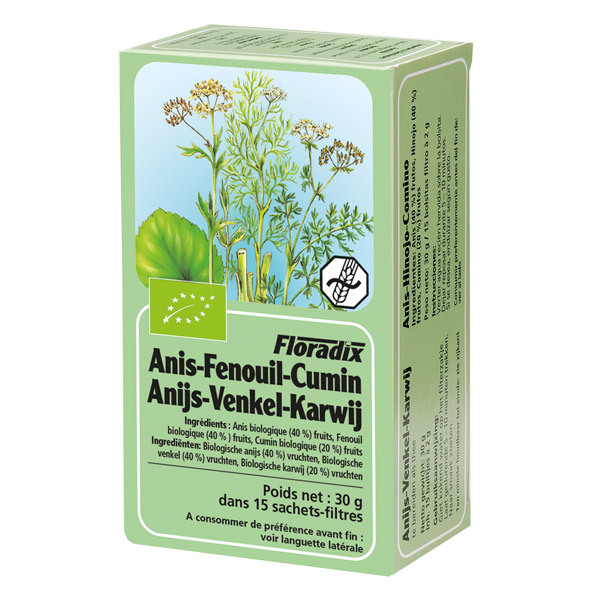 Salus - Tisane Floradix Anis - Fenouil - Cumin 15 sachets