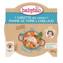Babybio - Assiette Légumes Cabillaud sauvage - 260g
