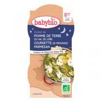 Babybio - Bols bonne nuit écrasé pommes de terre courgette - 2x200g