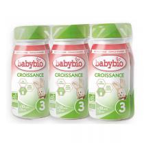 Babybio - Pack de 6 Lait de Croissance 3 Bio dès 10 mois 25cl