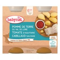 Babybio - Petits pots pomme de terre cabillaud sauvage - 2x200g
