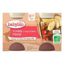 Babybio - Petits pots pomme fraise - 2x130g