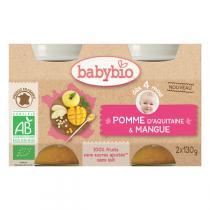 Babybio - Petits pots mangue et pomme d'Aquitaine - 2x130g