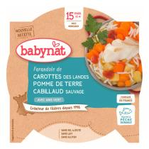 Babynat - Assiette légumes cabillaud sauvage - 260g