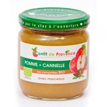 Confit de Provence - Compote Pomme Cannelle avec Morceaux BIO 430g