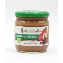 Confit de Provence - Compote Pomme Châtaigne avec Morceaux BIO 430g