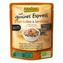 Danival - 3 céréales et lentilles 250g