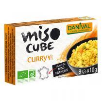 Danival - Miso cube curry végétal BIO 4 x 10g
