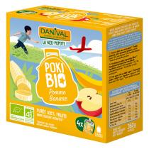 Danival - Poki Manzana Banana Bio 4x90g