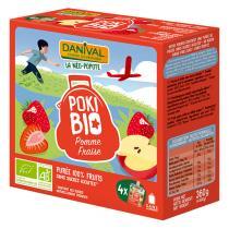 Danival - PokiBio Apfel-Erdbeere 4 x 90 g
