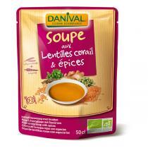 Danival - Soupe lentilles corail et épices douces BIO 500ml