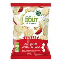 Good Gout - Lot 2 paquets Mini-galette de riz à la pomme- 2 x 40g