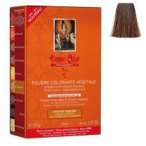 Henne Color - Pflanzliches Haarfärbepulver leuchtendes Kastanienbraun - 100g