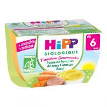 Hipp - Purée de Pommes de terre Carottes Boeuf - 190g