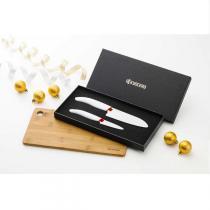 Kyocera - Geschenkset 2 Messer + 1 Schneidebrett