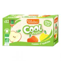 Vitabio - Lot de 12 Compotes Cool Fruits Pomme Acérola BIO - 12x90g