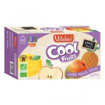 Vitabio - Cool fruits pomme mangue ananas - gourdes de fruits - 12x90g