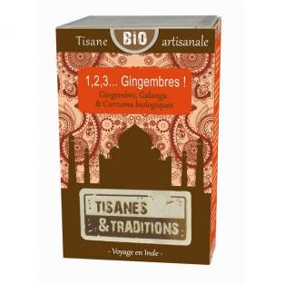 Tisanes & Traditions - 1,2,3 Gingembres! boite bois 30 sachets