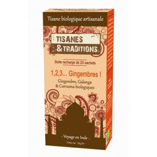 Tisanes & Traditions - 1,2,3 Gingembres ! - Recharge 20 sachets