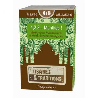 Tisanes & Traditions - 1,2,3 Menthes ! - boite bois 30 sachets