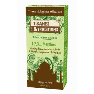 Tisanes & Traditions - 1,2,3 Menthes! Recharge 20 sachets