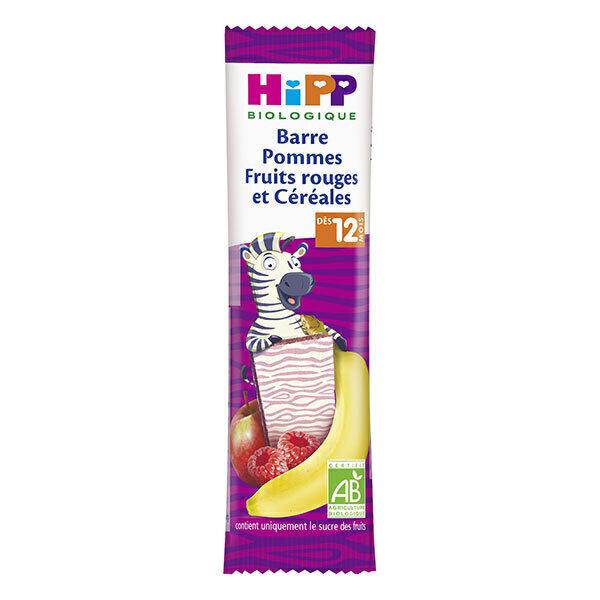 HiPP - Barre pommes fruits rouges et cereales - 25g