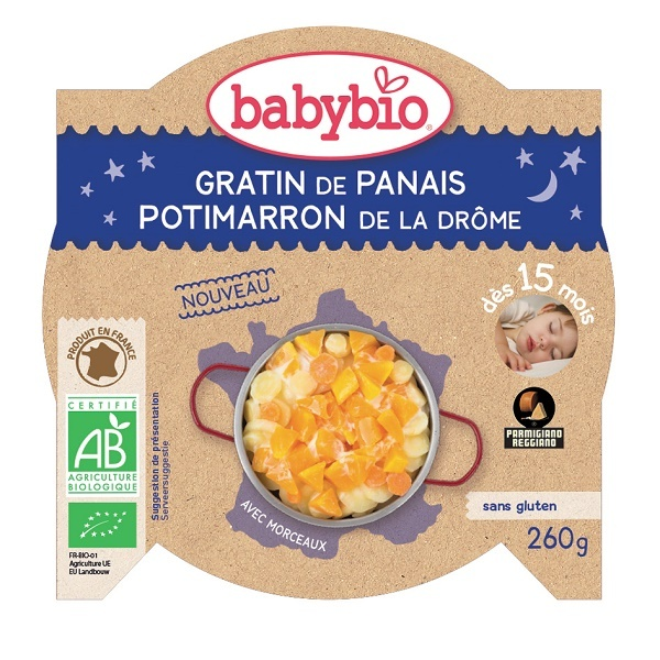 Babybio - Assiette bonne nuit gratin panais potimarron - 260g