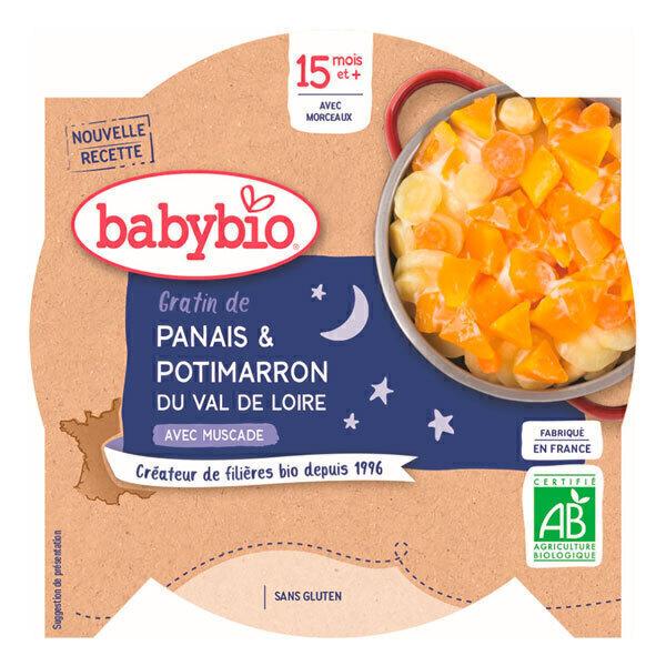 Babybio - Assiette bonne nuit gratin panais potimarron 260g - Dès 15 mois