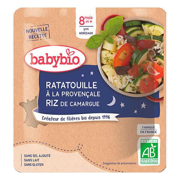 Babybio - Doypack B. Nuit Ratatouille Provençale Riz - 190g