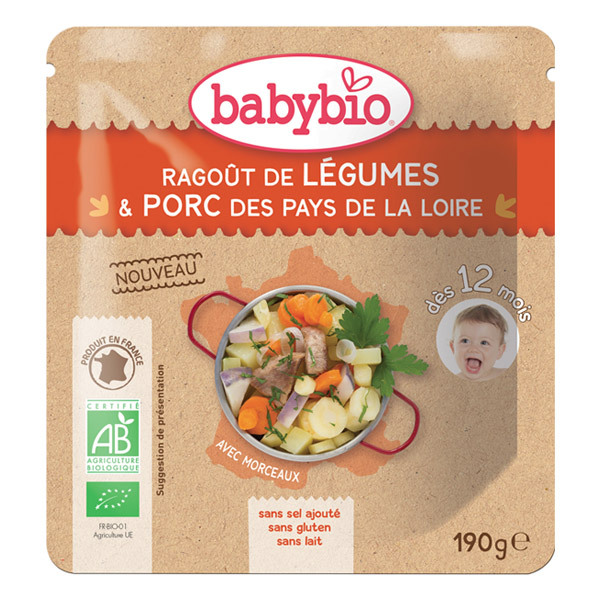 Babybio - Doypack Ragout de Légumes Porc - 190g