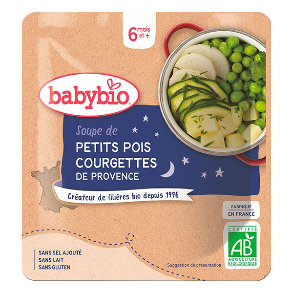 Babybio - Doypack Soupe Petits pois Courgette - 190g