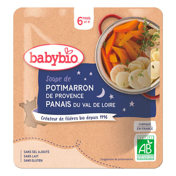Babybio - Doypack soupe potimarron panais 190g - Dès 6 mois