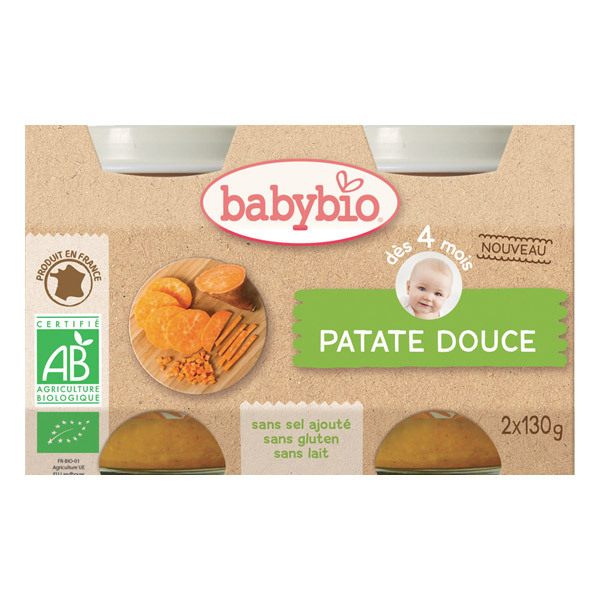 Babybio - Petits pots Patate douce - 2 x 130g