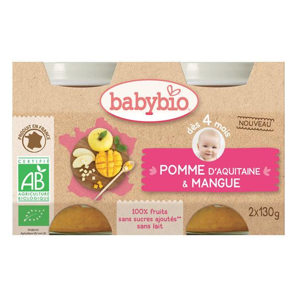 Babybio - Petits pots Pomme Mangue - 2 x 130g