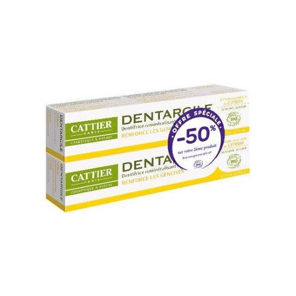 Cattier - Bio Zahncreme mit Heilerde und Zitrone 2 x 75ml