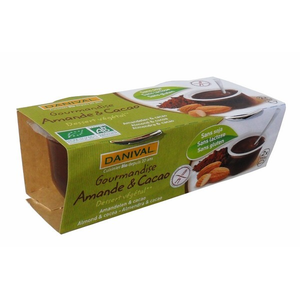 Danival - Postre Almendras Cacao Bio 2x110g
