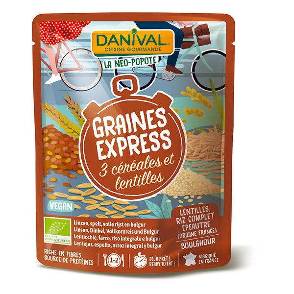 Danival - Graines express 3 céréales et lentilles 250g