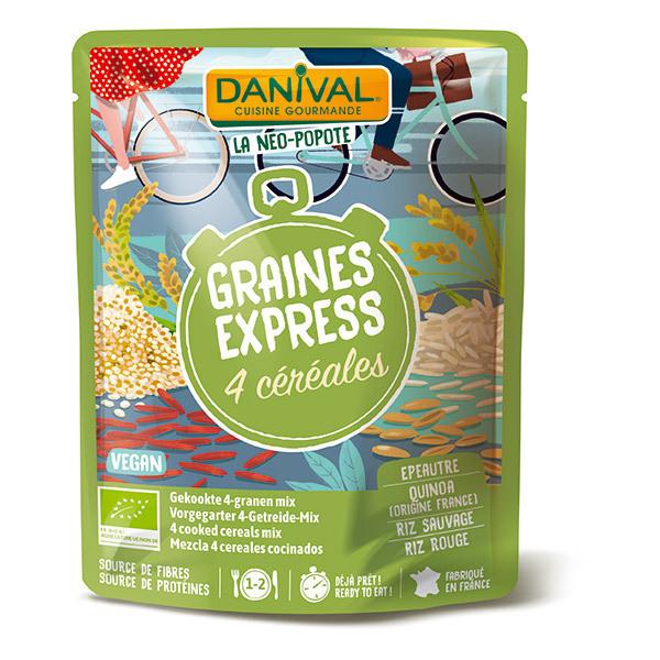Danival - Graines express 4 céréales 250g