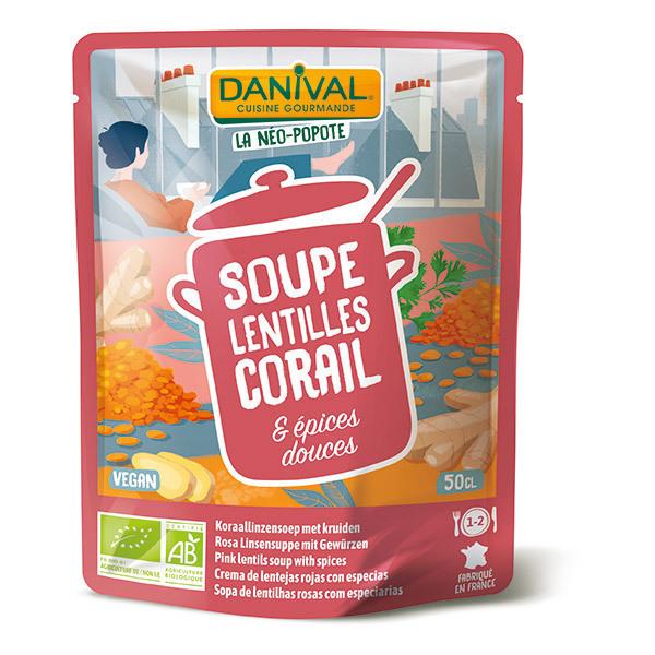 Danival - Soupe lentilles corail et épices 500ml