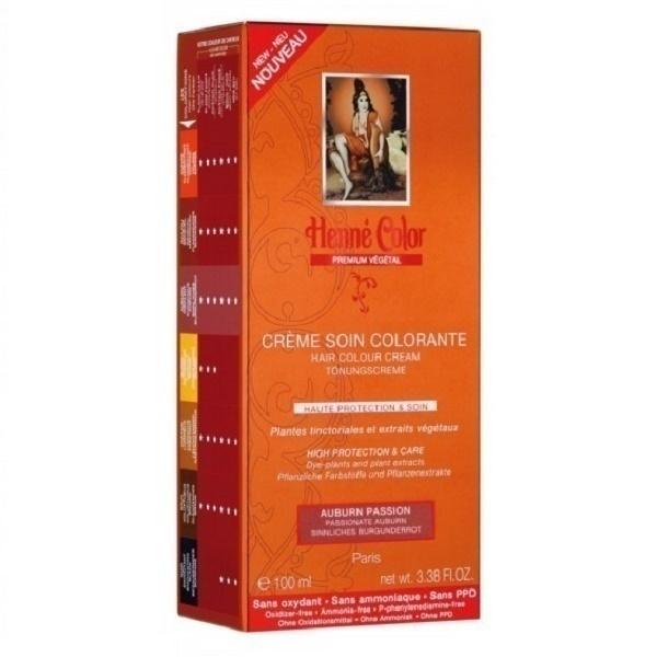 Henne Color - Crème soin colorante Auburn insolent - 100ml