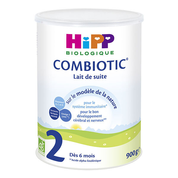 Hipp - Combiotic 2 Lait de suite Bio dès 6 mois 900g