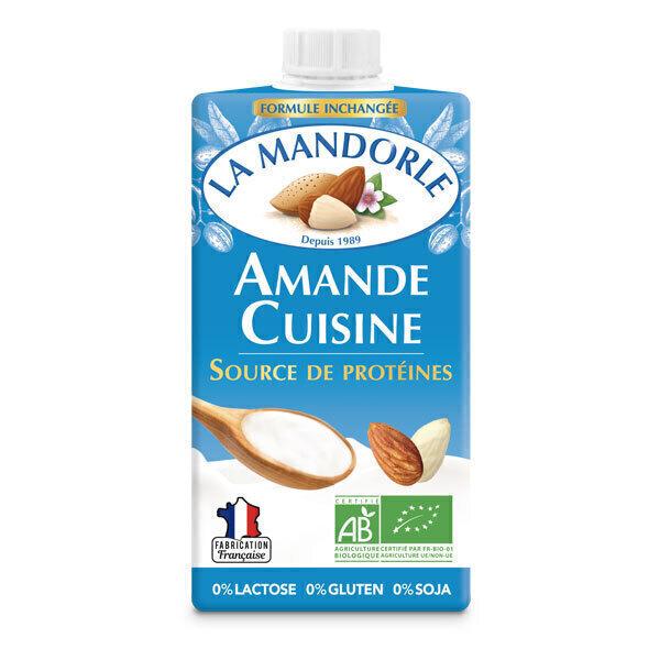 La Mandorle - Lot de 2 Amandes cuisine réduites en matières grasses 2x25cl